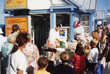 Adrian Doughty's Balloon shop on Eastbourne Pier