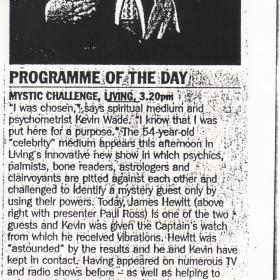 BBC Radio TV Presenter Paul Ross , James Hewitt