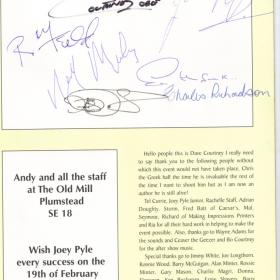 Rare Signitures Freddie Forman,Dave Courtney,Charly Richerdson,Roy Shaw,Joey Pile
