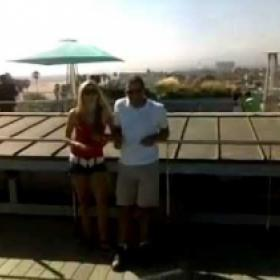 With Steph and Mac on the roof top